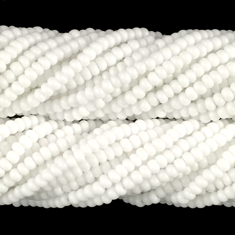 White Opaque - Size 10 Seed Beads
