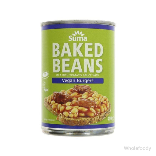 Baked Beans Suma Vegan Burger 400G Tinned Food