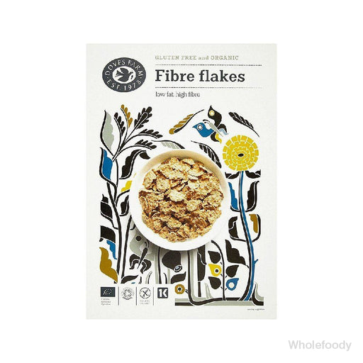 Breakfast Cereal Doves Fibre Flakes Organic 375G Cereals Branded