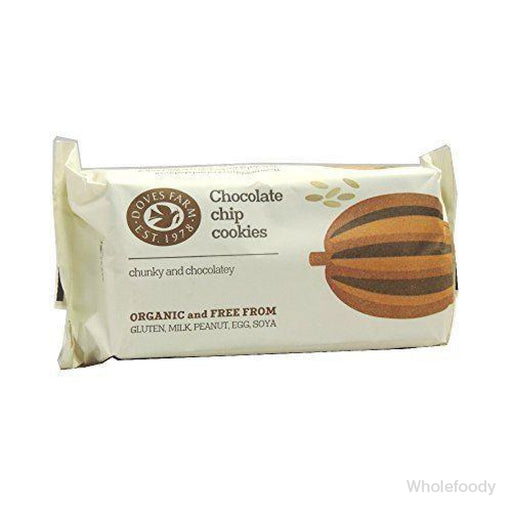 Cookies Doves Fairtrade Gluten Free Choc Chip Organic 180G Biscuits/waffles