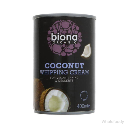 Cream Biona Coconut Whipping Organic 400Ml Tinned Food