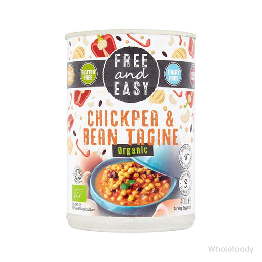 Meal Free&easy Chick Pea/bean Tagine Organic 400G Tinned Food