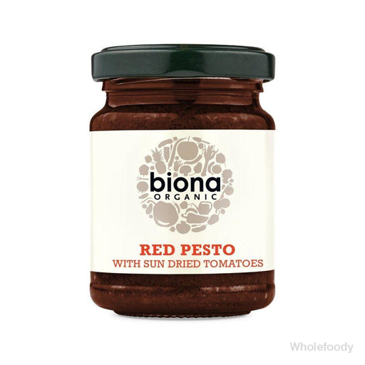 Pesto Biona Red Vegan Organic 120G Sauces/seasonings