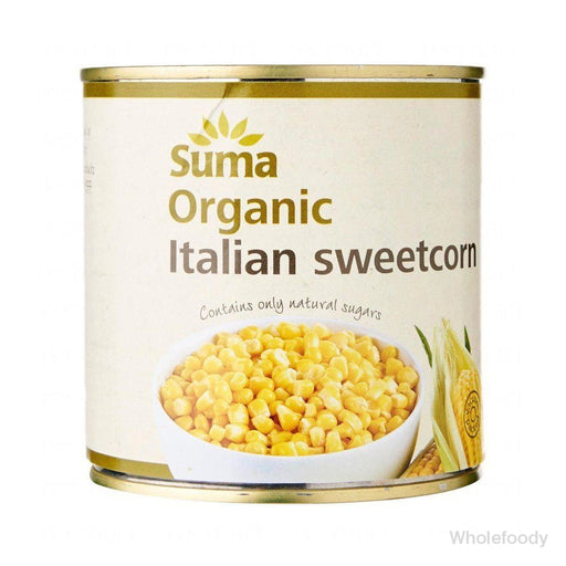Sweetcorn Suma Italian Organic 340G Tinned Food