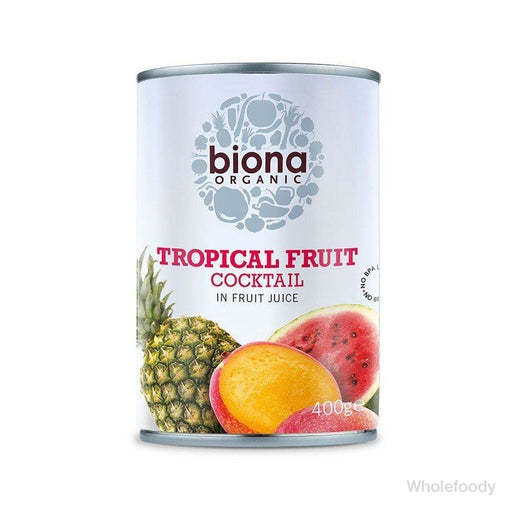 Tinned Tropical Fruit Essential Cocktail Organic 400G Food