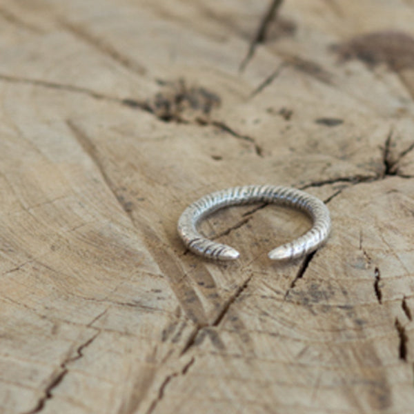 Coiled Silver Cuff Ring