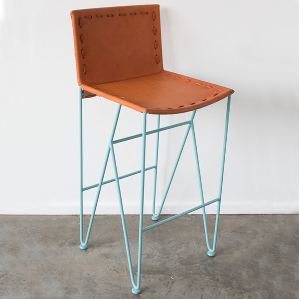 Saddle Leather Bar Stool