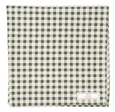 Cotton Gingham Pocket Square