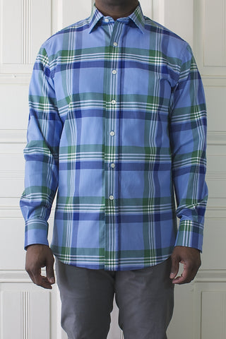 Large Blue Plaid