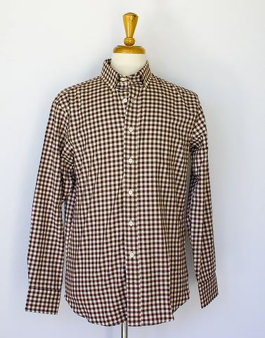 Brown Gingham Flannel
