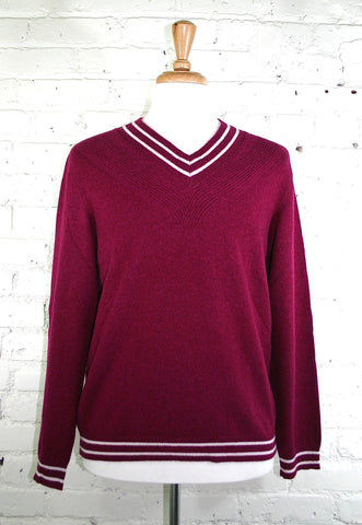 St. Charles Cashmere Sweater - Burgundy