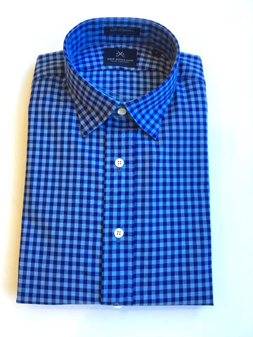 Blue on Blue Gingham