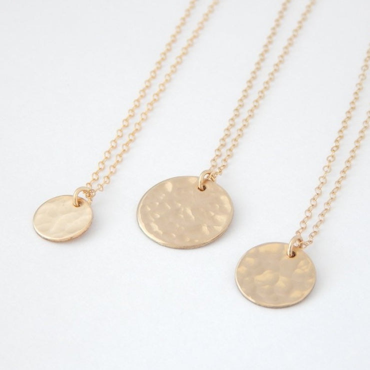 "1/2"" Initial Disc Necklace"