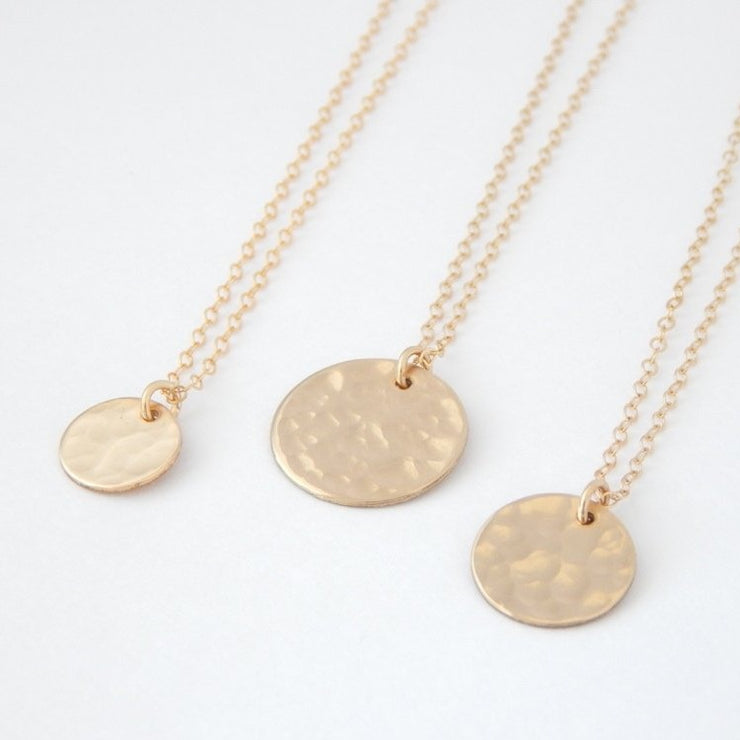 "3/8"" Initial Disc Necklace"