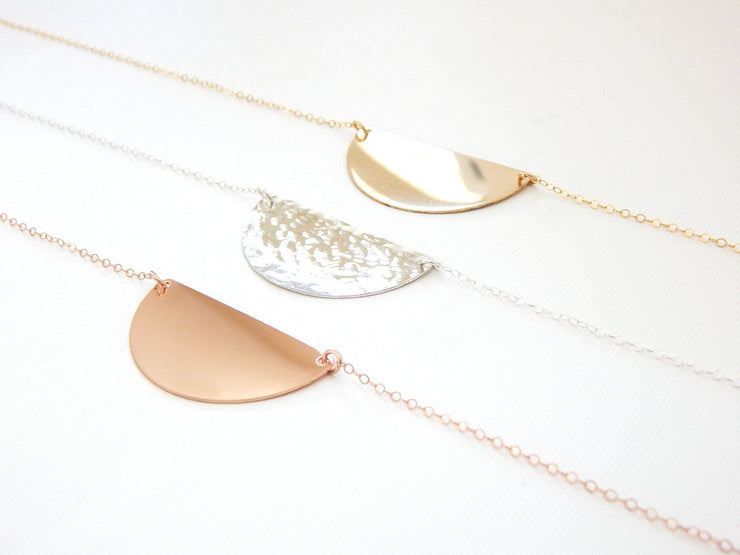 Crescent Necklace - Barberry + Lace