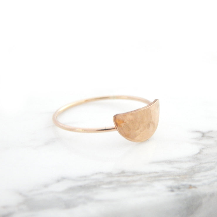 Personalized Crescent Ring - Barberry + Lace