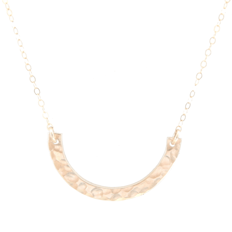 Hammered Arc Necklace - Barberry + Lace