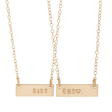 Mini Friendship Bar Necklace Set