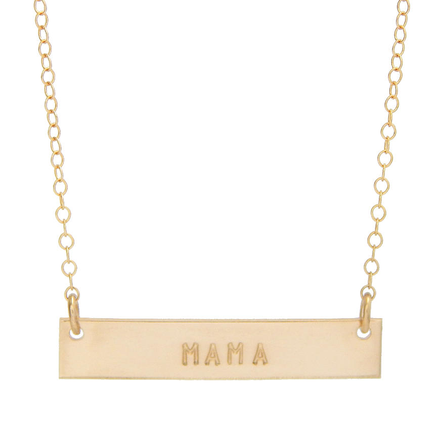 """MAMA"" Bar Necklace"