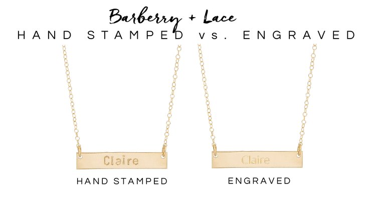 Personalized Bar Bracelet - Barberry + Lace