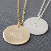 "5/8"" Personalized Disc Necklace"