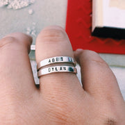 Personalized Stacking Rings - Barberry + Lace