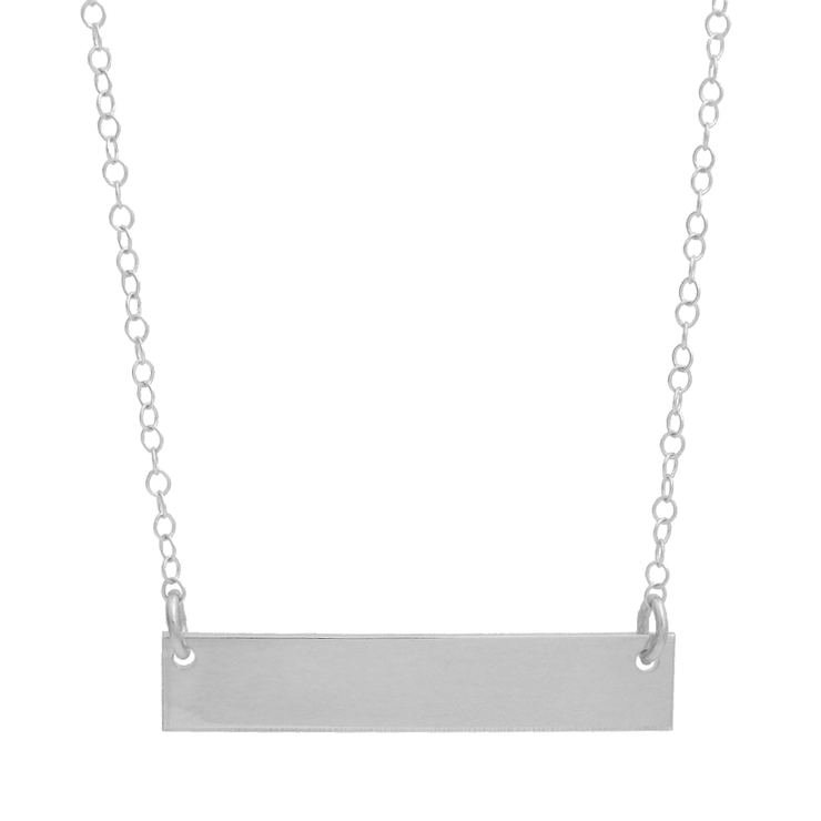 Plain Bar Necklace - Barberry + Lace