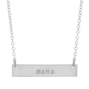 MAMA Bar Necklace - Barberry + Lace