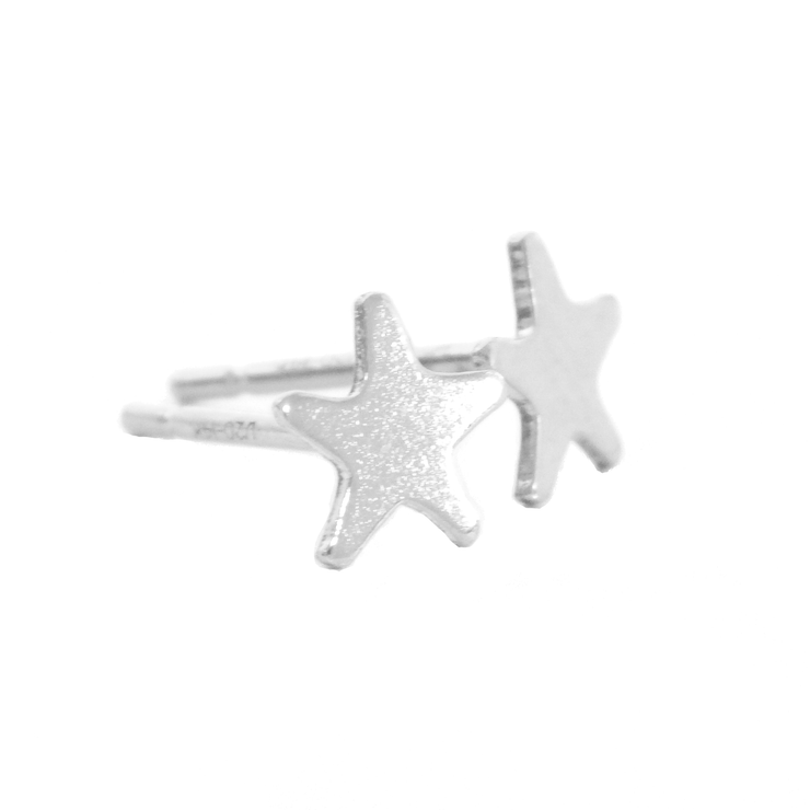 Tiny Star Stud Earrings - Barberry + Lace