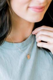 Graduation Rectangle Necklace - Barberry + Lace