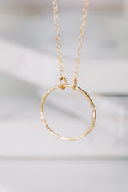 Open Ring Necklace - Barberry + Lace