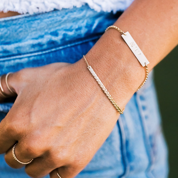 Skinny Chevron Bar Bracelet