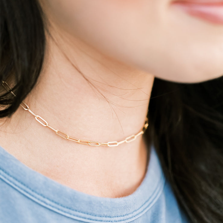 Paperclip Choker Necklace