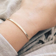 Skinny Chevron Bar Bracelet - Barberry + Lace