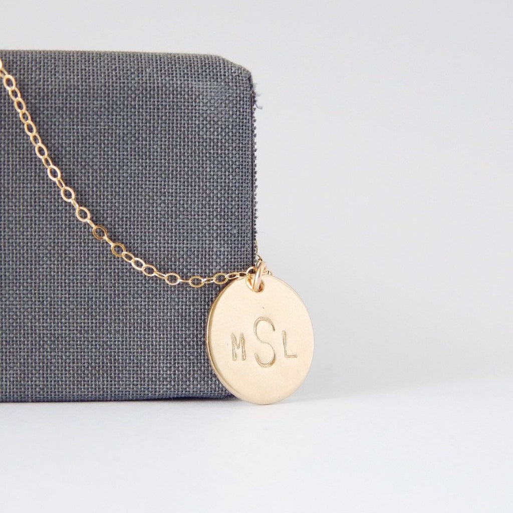 Personalized Monogram Necklace - Barberry + Lace