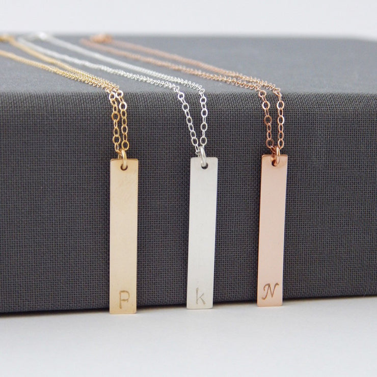 Vertical Bar Pendant - Barberry + Lace