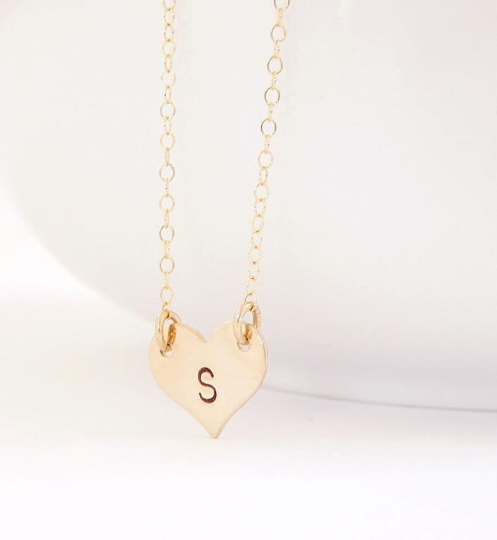 Personalized Heart Necklace - Barberry + Lace