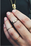 Tiny Square Stacking Ring