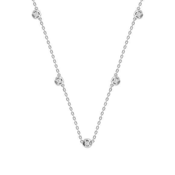 Merii LIBERTY : LIBERTY Dots Necklace Sterling silver Rhoduim Plated