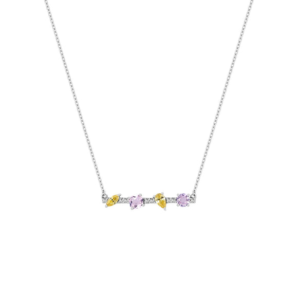 Merii LIBERTY : LIBERTY cluster Necklace Sterling silver and Rhodium Plated