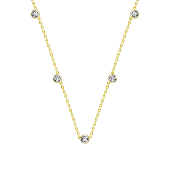 Merii LIBERTY : LIBERTY Dots Necklace Sterling silver yellow Gold Plated