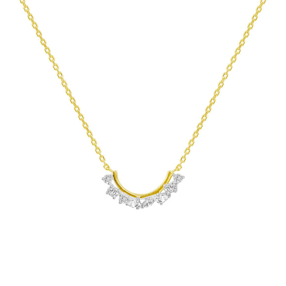 Merii LIBERTY : LIBERTY cluster Necklace Sterling silver and yellow Gold Plated