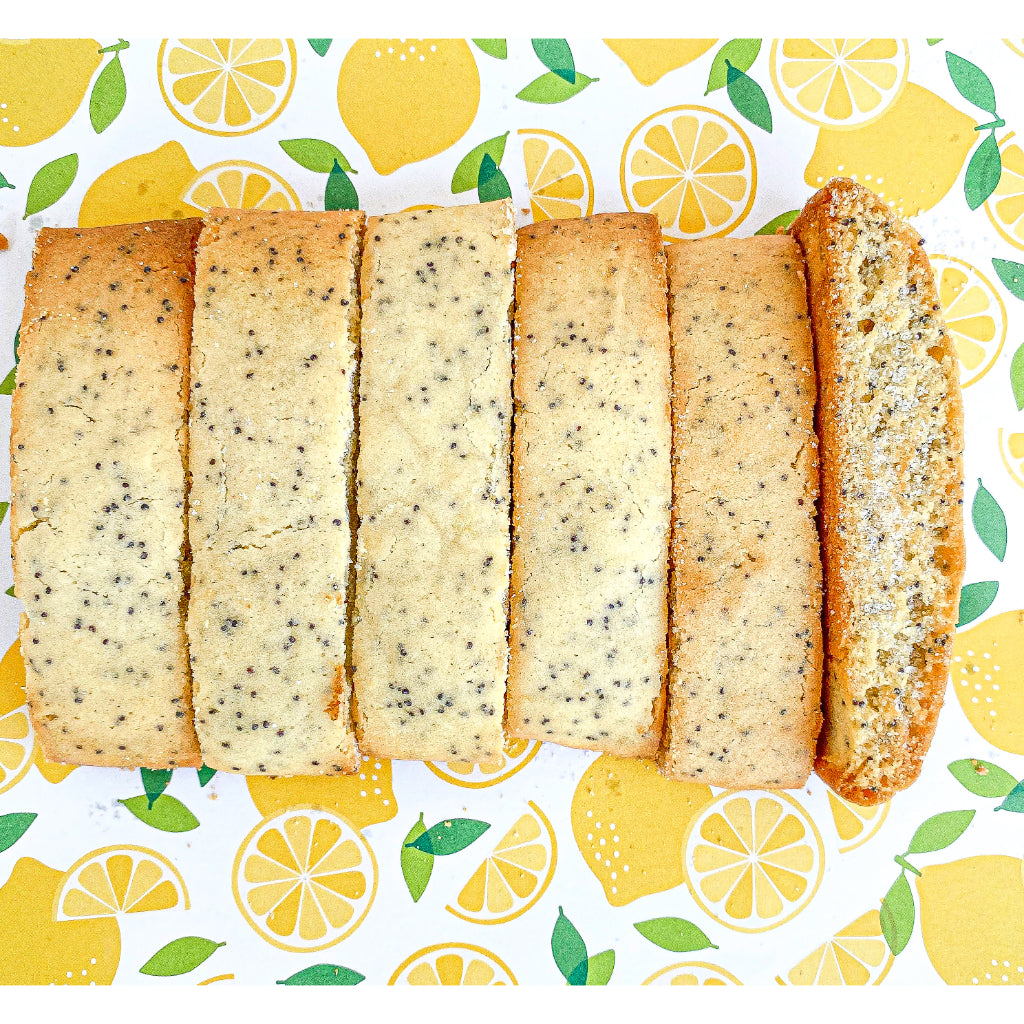Lemon Poppy Seed Mandel Bread - Noshes By Sherri