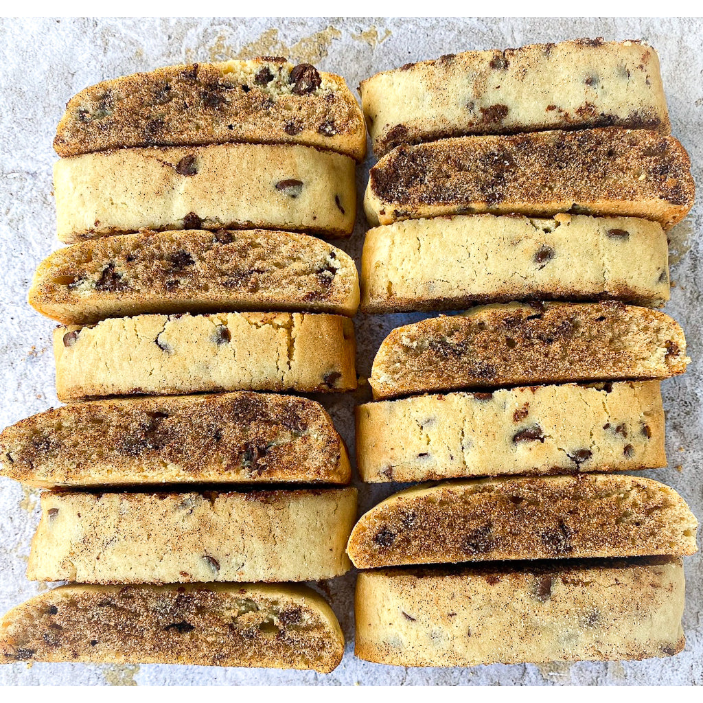 Chocolate Chip Mandel Bread - Noshes By Sherri