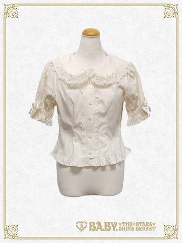 Flower short sleeve blouse