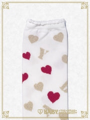 BABY heart over knee socks