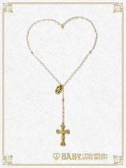 St. Mary Holy Card Rosario necklace