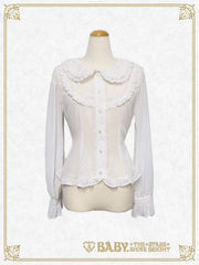 Kumakumya's ears collar blouse