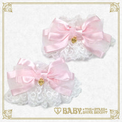 Heart ribbon tulle lace cuffs