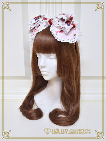 RESERVE - Strawberry's Heart Drops ribbon head dress